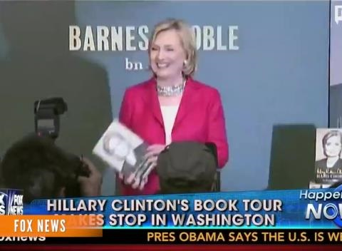 News video: Clinton Book Tour: More Than Handshakes And Friendly Crowds
